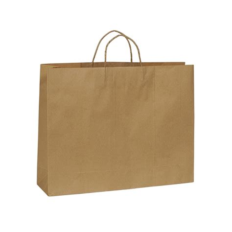 Paper Bags - kraft paper bag boutique large with handle 450 w x 350 h x
