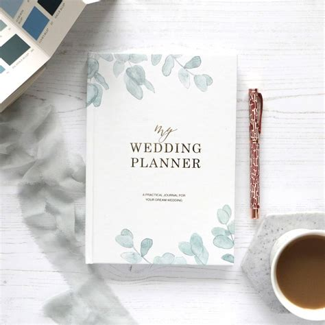 a wedding planner book wedding planner book eucalyptus engagement gift by blush