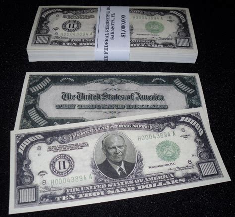 100 VERY REALISTIC-LOOKING $10,000 BILLS + BAILOUT BILL | eBay $10000 Bill For Sale