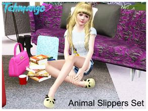 S66 Slippers sims 3 sets pose