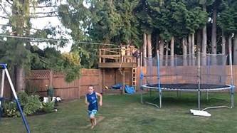 How To Make A Zip Line For Your Backyard Zipline Kids Fun Youtube