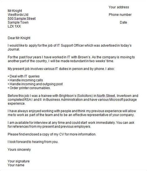 exle of formal letter uk cover letter exles uk document blogs