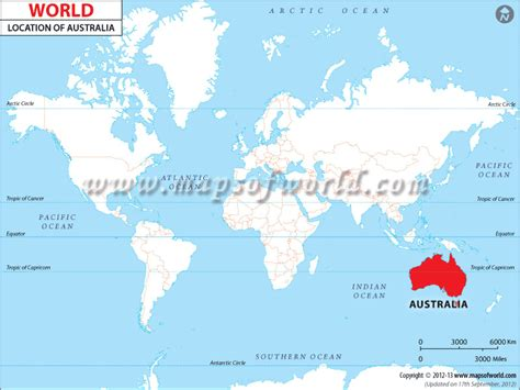australia map location where is australia australia location in the world map