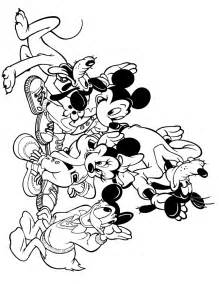 Coloring Book Disney Of Mickey Mouse And Friends Free Coloring Pages On Art