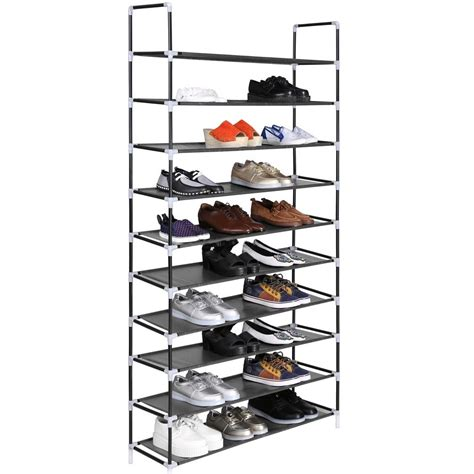 space saving shoe storage new 5 10 tier layer storage organizer cabinet shelf space