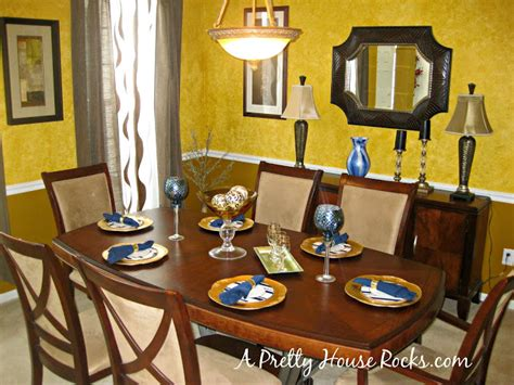 brown and blue dining room a pretty house rocks home decorating brown blue