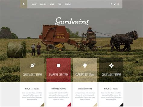 Free Bootstrap Templates For Agriculture   gardening free agriculture bootstrap template freemium