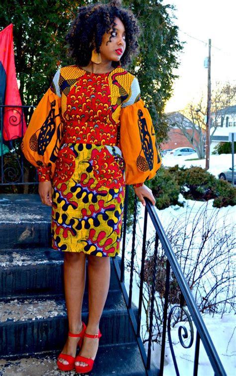 african american sewing blogs african print quot pot luck quot dress modeled by my daughter