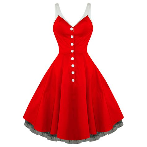 50s swing dress uk hearts roses london kitsch red vintage 50s party prom