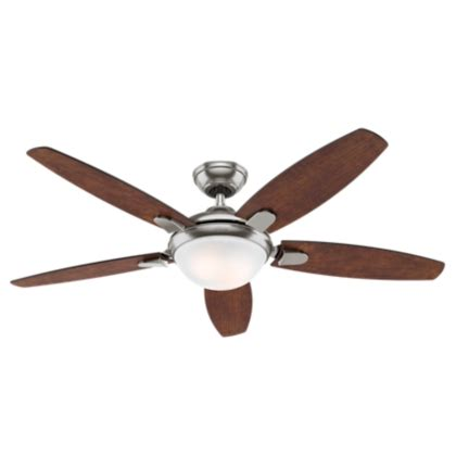 costco hunter ceiling fan 54 quot brushed nickel chrome ceiling fan contempo 59176