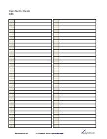 Blank List Template Pin By Anita Brown On Forms Pinterest
