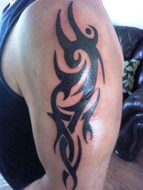tattoo upper arm tribal bold black tribal upper arm tattoo pictures fashion gallery