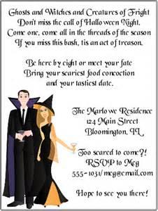 costume invitations