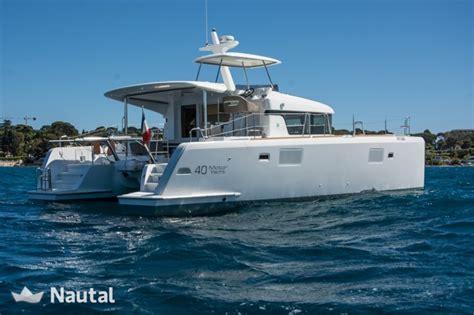 catamaran charter nice katamaran neuer motor in nizza nautal