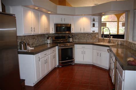 Countertops That Go Existing Countertops by Install Of Concrete Countertops Kitchen Remodel