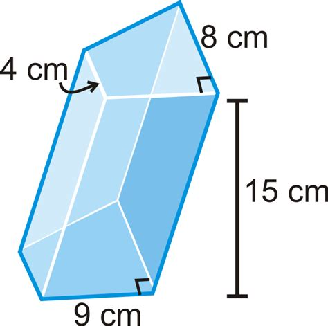 volume of trapezoidal section surface area and volume of prisms read geometry ck
