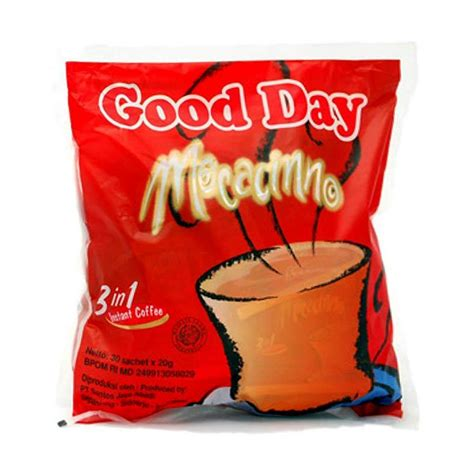 Day Mocacinno 10 S X 20 Gr jual day mocacinno 3 in 1 instant coffee 30 s x