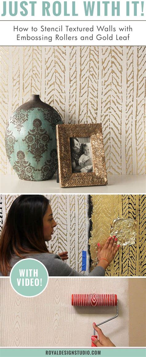 leaf pattern paint roller 278 best how to stencil images on pinterest