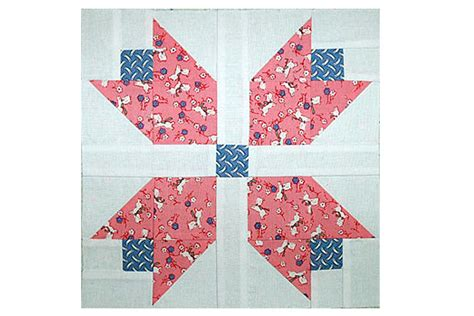 Patchwork Block Patterns - patchwork tulips quilt block pattern