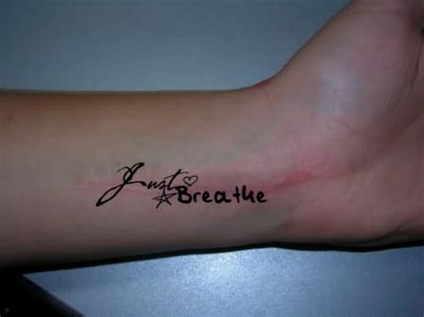heartbeat tattoo just breathe 20 cool wrist breathe tattoos