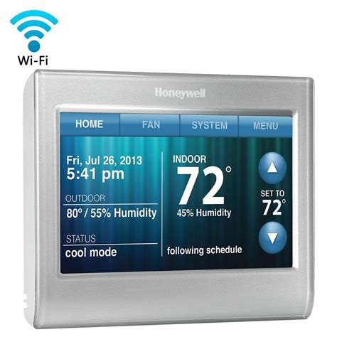 Kitchen Faucets With Touch Technology Honeywell Wi Fi Smart Thermostat Rth9580wf The Home Depot