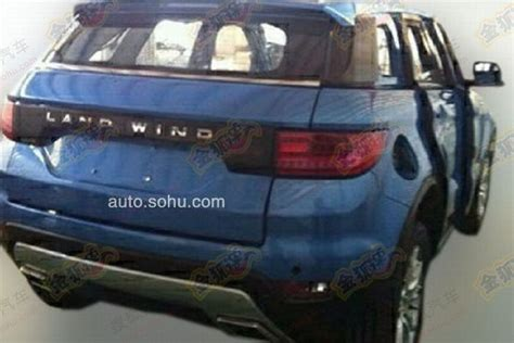land wind e32 landwind x7 clone evoque spied rear indian autos blog