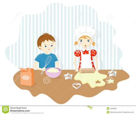 Boy And Girl Baking Cookies Royalty Free Stock Photo Picture Of Boy And Free