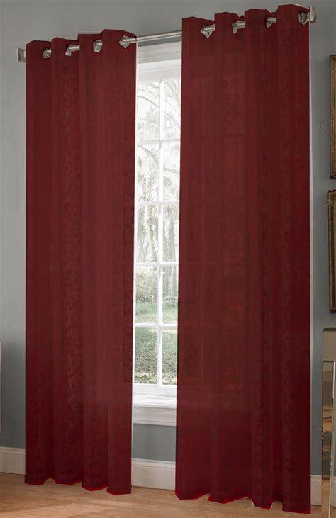 burgundy lace curtains royale grommet curtains burgundy lorraine view all curtains