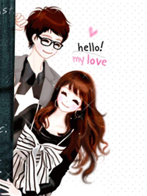 wallpaper animasi love couple korean couple cartoon shinrise land