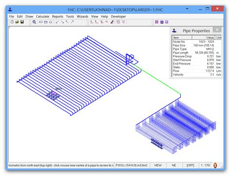 Free Layout Program fhc hydraulic calculation project examples fhc