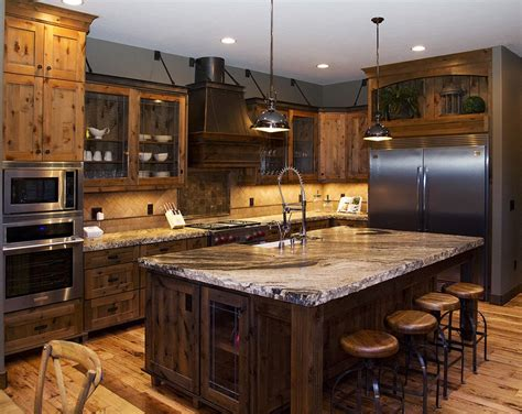 Large Kitchen With Island Remarkable Large Kitchen Island From Reclaimed Wood