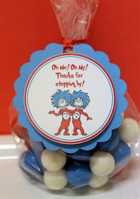 dr seuss baby shower favors dr seuss thing 1 thing 2 baby shower birthday favor tags