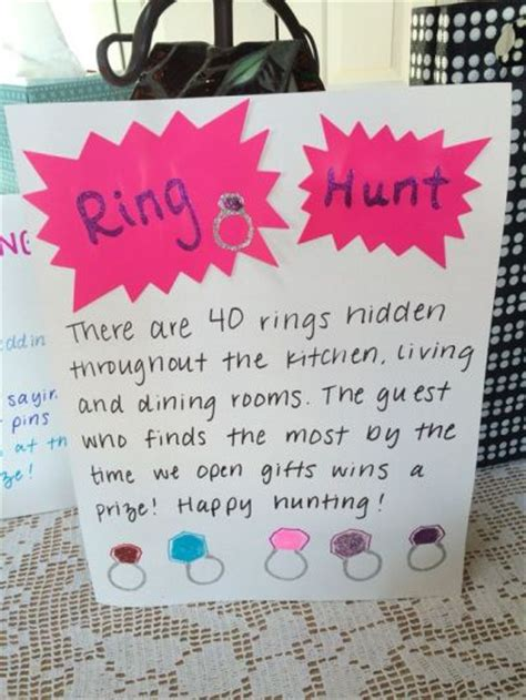 Shower Plays by Ring Hunt For Bridal Shower See More Bridal