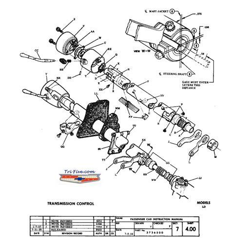 manual repair free 1955 chevrolet corvette transmission control 57 steering column rebuild trifive 1955 chevy 1956 manual 7 wiring diagram library