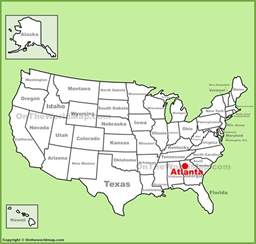 where is atlanta on the map of usa atlanta location on the u s map