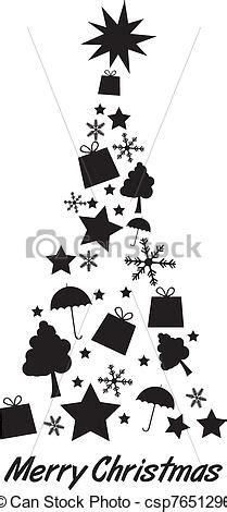 silueta de árbol de navidad silueta 225 rbol navidad silhoette encima 225 rbol aislado vector clip buscar dibujos