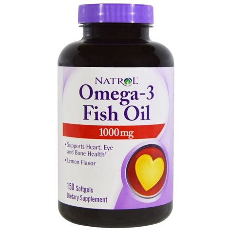 Fish Softgels natrol omega 3 fish lemon flavor 1 000 mg 150