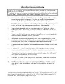 classical and operant conditioning worksheet quiz