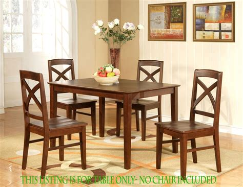 No Room For Kitchen Table Rectangular Dining Room Kitchen Table 36 Quot X48 Quot In Espresso Color No Chair Ebay