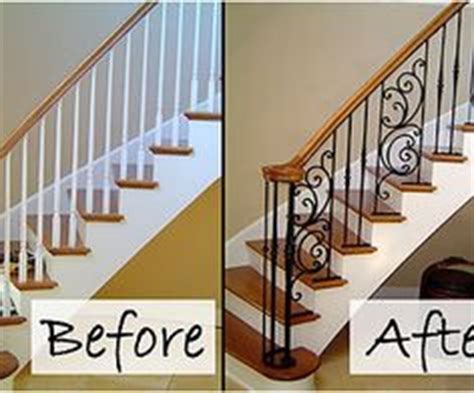 Replacing Banister by Wood And Iron Staircase Designs Search Home