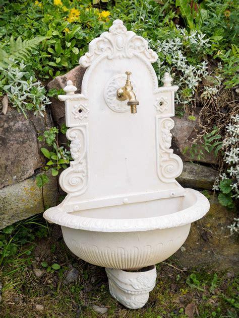 garten waschbecken wandbrunnen brunnen gartenbrunnen garten waschbecken antik