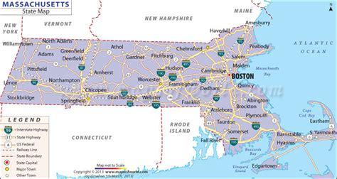state of massachusetts massachusetts state map