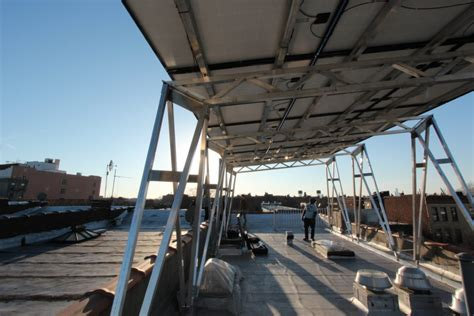 solar awnings new solar canopy can be installed atop any nyc building