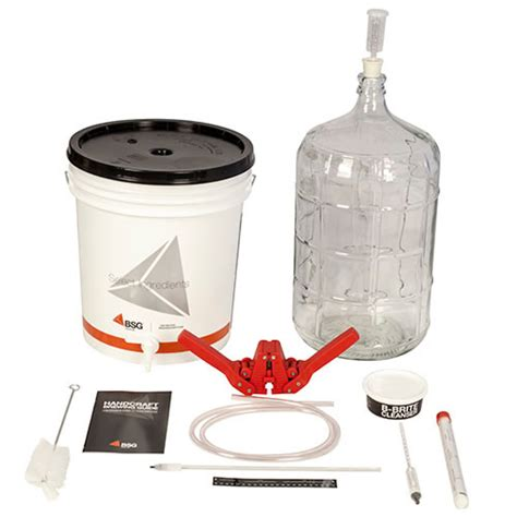 Bsg Handcraft - bsg handcraft gold homebrew kit w glass carboy