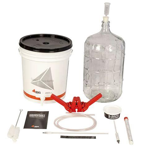 Handcraft Brewing - bsg handcraft gold homebrew kit w glass carboy