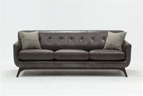 living spaces leather sofa cosette leather sofa living spaces