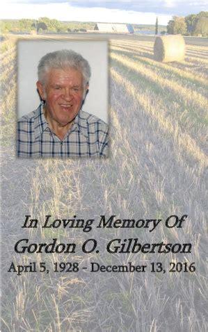 gordon o gilbertson dobmeier funeral home barnesville mn
