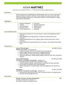 Free Resume Sles Office Manager Sle Project Manager Resume Exle Recentresumes