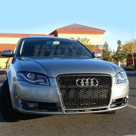 2005 audi s4 headlights r8 style led drl 2005 2008 audi a4 s4 rs4 wagon