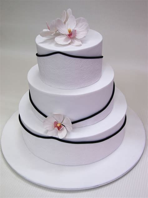 3 Tier Wedding Cake by Robin 3 Tier Wedding Cake With Orchids